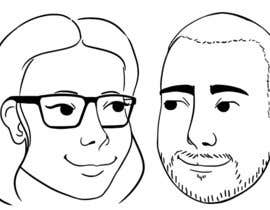 #1 for Cartoonize Two Faces (B/W, Vector Graphic, Low Detail) by crisshadesign