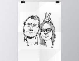 #12 for Cartoonize Two Faces (B/W, Vector Graphic, Low Detail) by wahala