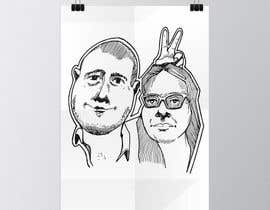 #13 for Cartoonize Two Faces (B/W, Vector Graphic, Low Detail) by wahala