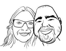 #19 for Cartoonize Two Faces (B/W, Vector Graphic, Low Detail) by designoarte