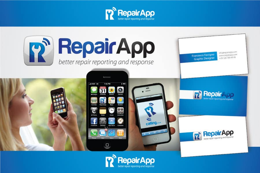 #489 for Logo Design for RepairApp by Ferrignoadv