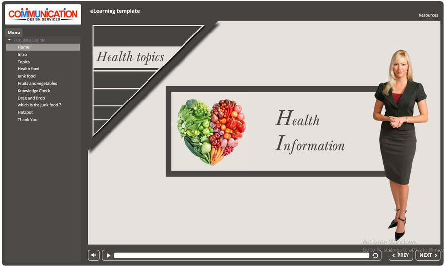 Entry #34 by vedach30 for Design a Storyline eLearning template ...