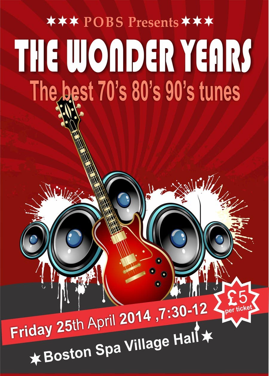 Inscrição nº                                         23                                      do Concurso para                                         Design a Flyer for The Wonder Years