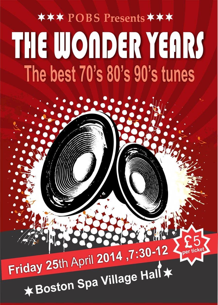 Inscrição nº                                         24                                      do Concurso para                                         Design a Flyer for The Wonder Years