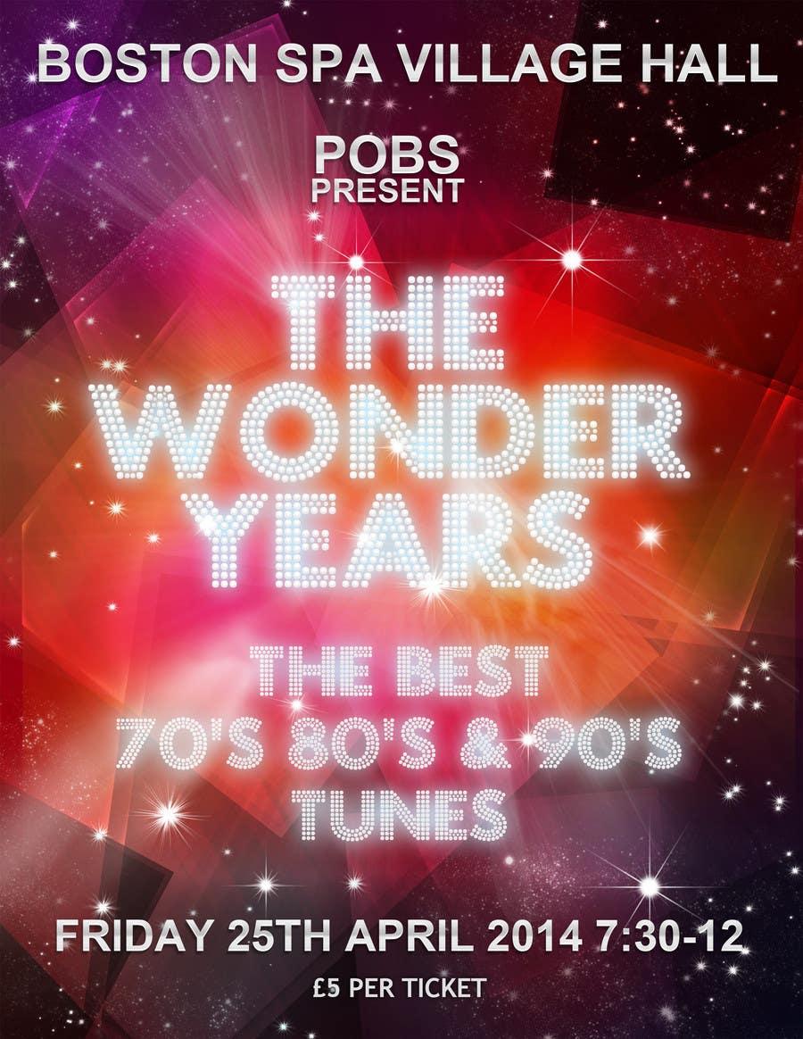 Inscrição nº                                         39                                      do Concurso para                                         Design a Flyer for The Wonder Years