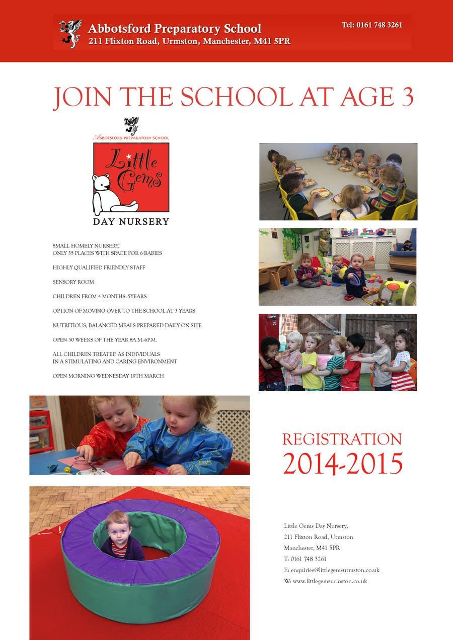 Proposition n°6 du concours Urgent Design for a flyer for a Nursery