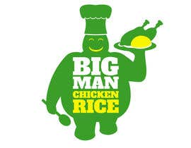 nº 7 pour Design a Logo for BIG MAN CHICKEN RICE par EstudioPonzonia