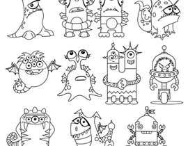 nº 13 pour Funny Monster Robot Illustrations Wanted par mishyroach