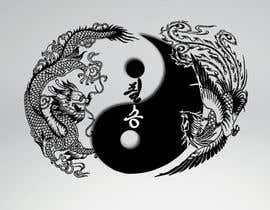 #46 untuk I need some Graphic Design for a Dragon & a Phoenix wrapping the outside of a Yin-Yang pattern and the Korean characters for Victory in the middle oleh naveenravi19