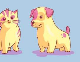 #9 para Concept art for a virtual pet game: kitten and puppy por Barney616