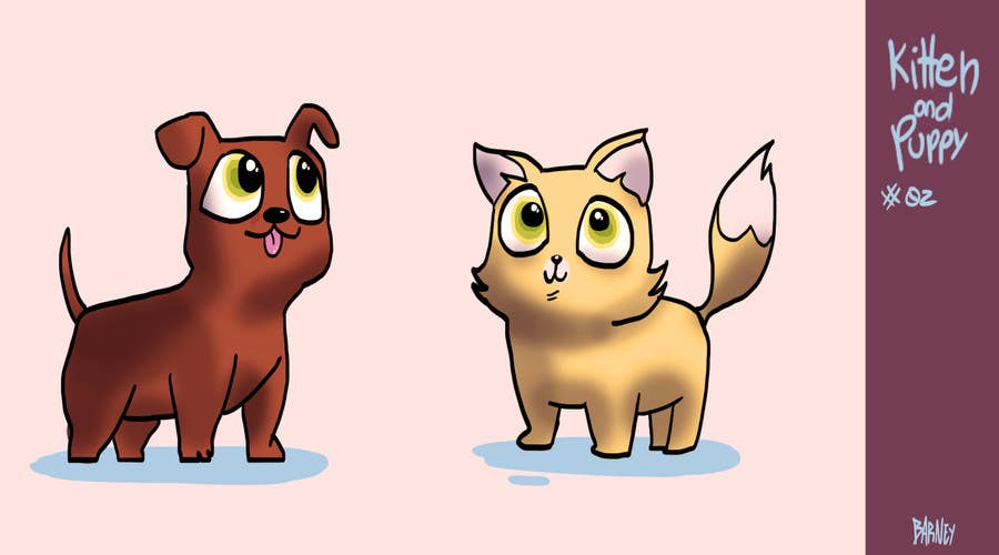 Proposition n°11 du concours Concept art for a virtual pet game: kitten and puppy