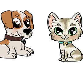#5 para Concept art for a virtual pet game: kitten and puppy por dreahatch