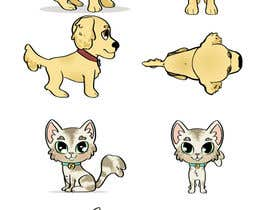 nº 17 pour Concept art for a virtual pet game: kitten and puppy par dreahatch