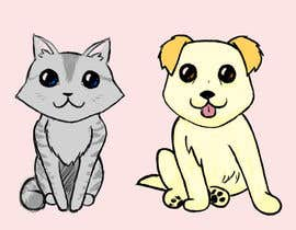 nº 21 pour Concept art for a virtual pet game: kitten and puppy par Minxtress