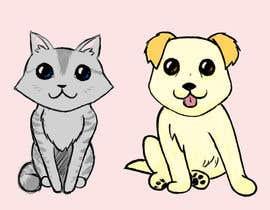 #21 para Concept art for a virtual pet game: kitten and puppy por Minxtress
