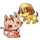 Proposition n° 12 du concours Graphic Design pour Concept art for a virtual pet game: kitten and puppy