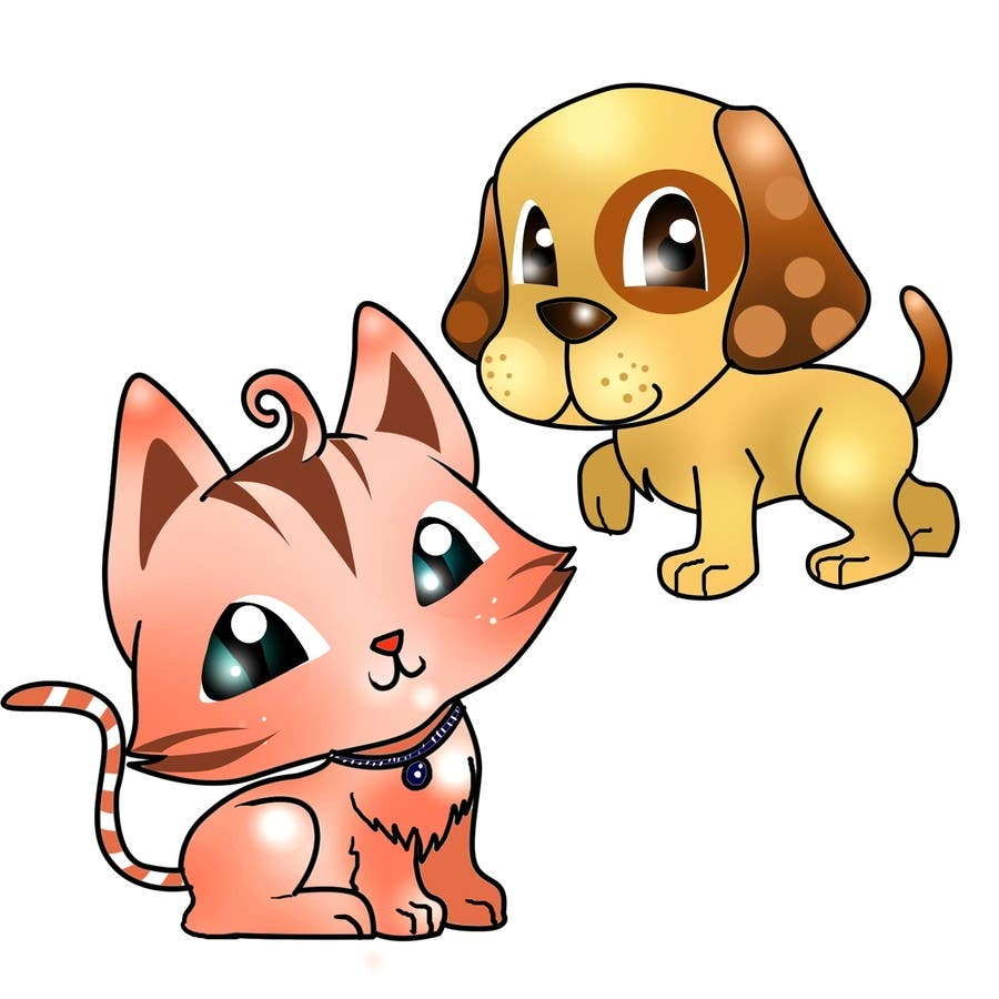 Proposition n°12 du concours Concept art for a virtual pet game: kitten and puppy