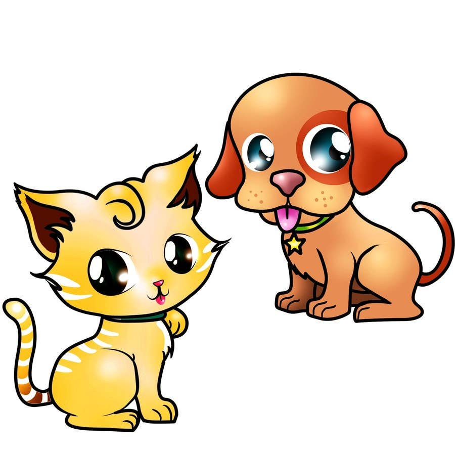 Contest Entry 16 For Concept Art A Virtual Pet Game Kitten And Puppy