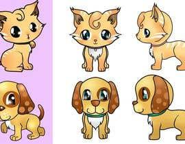 #19 para Concept art for a virtual pet game: kitten and puppy por chubi91