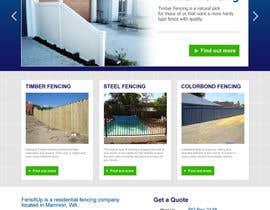 Nro 74 kilpailuun Design a Website Mockup for Fensitup käyttäjältä pris