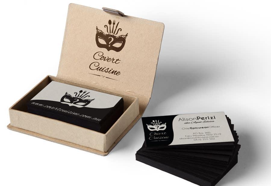 Kilpailutyö #55 kilpailussa Design some Business Cards for Covert Cuisine