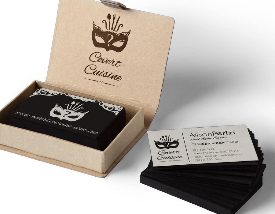 Kilpailutyö #56 kilpailussa Design some Business Cards for Covert Cuisine