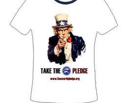 nº 9 pour Design a Take The Pledge T-shirt (Uncle Sam) par jneximint