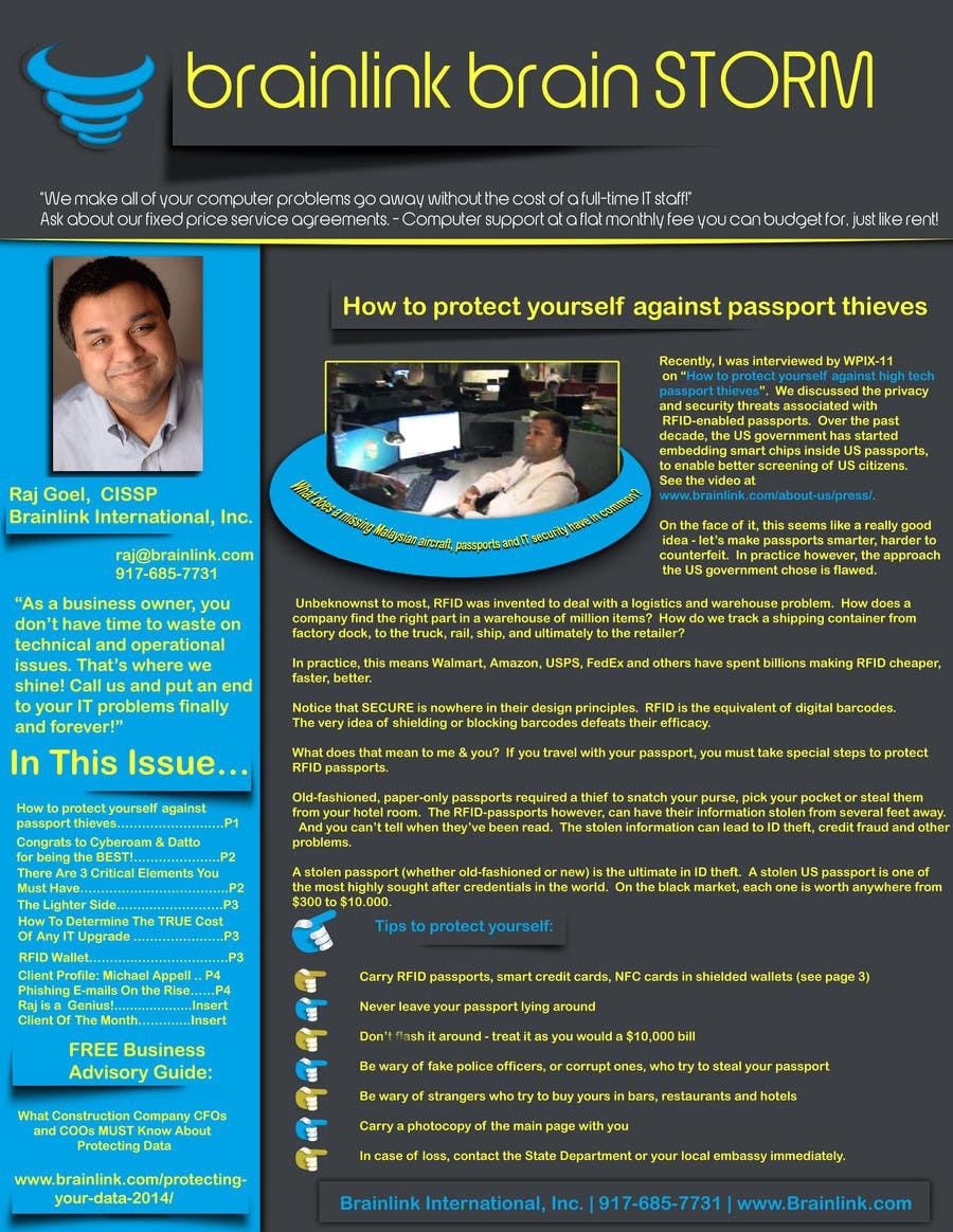 Bài tham dự cuộc thi #                                        27                                      cho                                         Redesign my newsletter