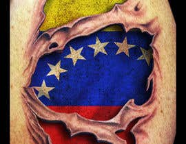 #24 for Torn flesh tattoo flag desing by porderanto