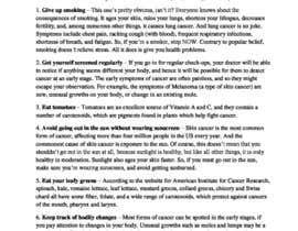 priya96411 tarafından Natural ways to prevent cancer için no 6