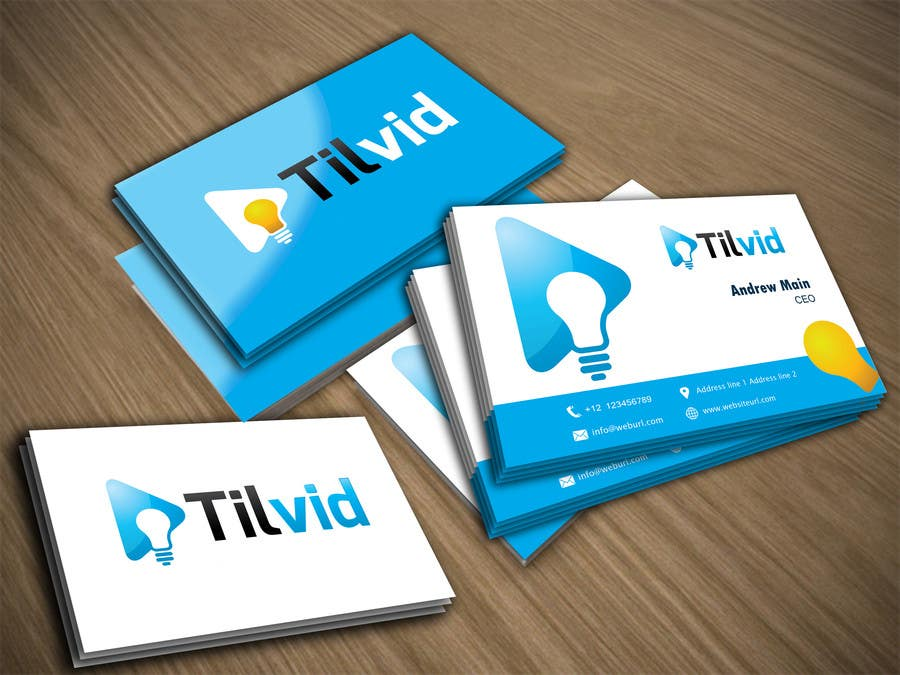 Konkurrenceindlæg #11 for Design some Business Cards for Tilvid LLC