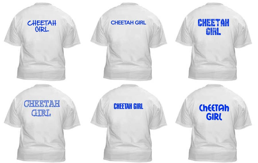 Proposition n°3 du concours Simple T-Shirt Design: Cheetah Girl