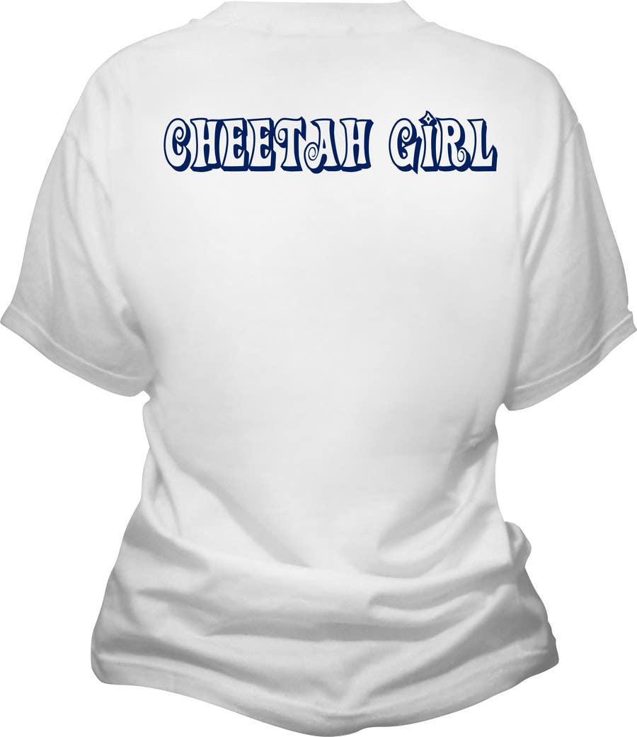 Proposition n°14 du concours Simple T-Shirt Design: Cheetah Girl