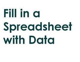 #45 cho Fill in a Spreadsheet with Data bởi pnkj23rathore