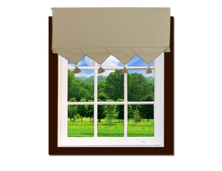 How to build a window frame around a poster