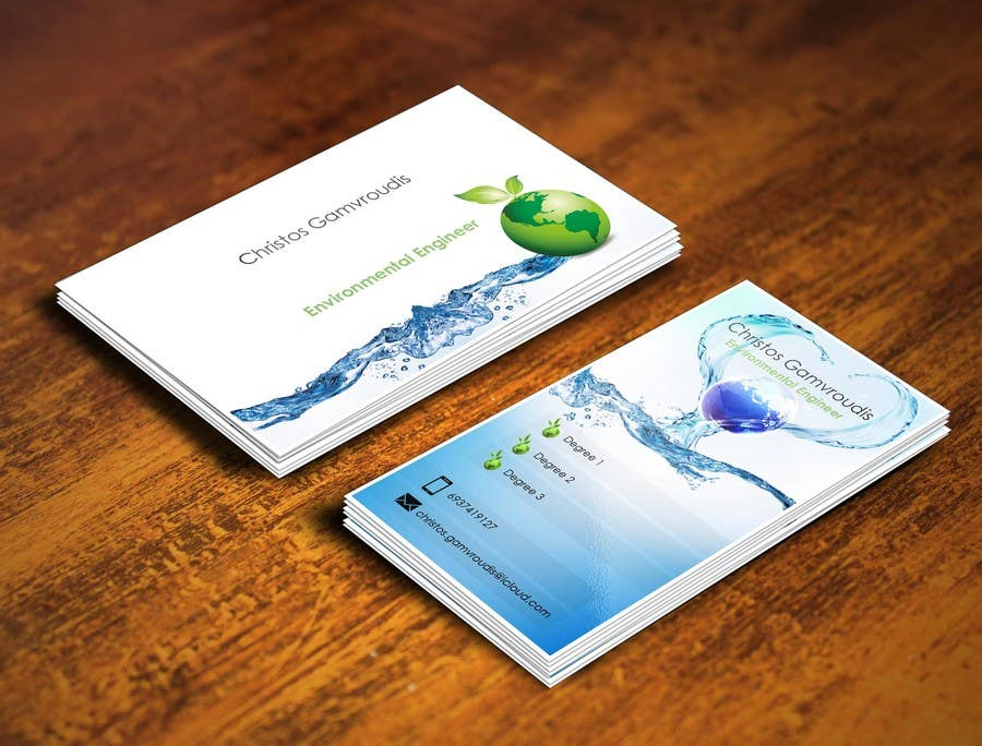 Design some Business Cards for Environmental Engineer | Freelancer