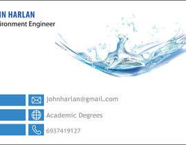 nº 6 pour Design some Business Cards for Environmental Engineer par balajirakesh70
