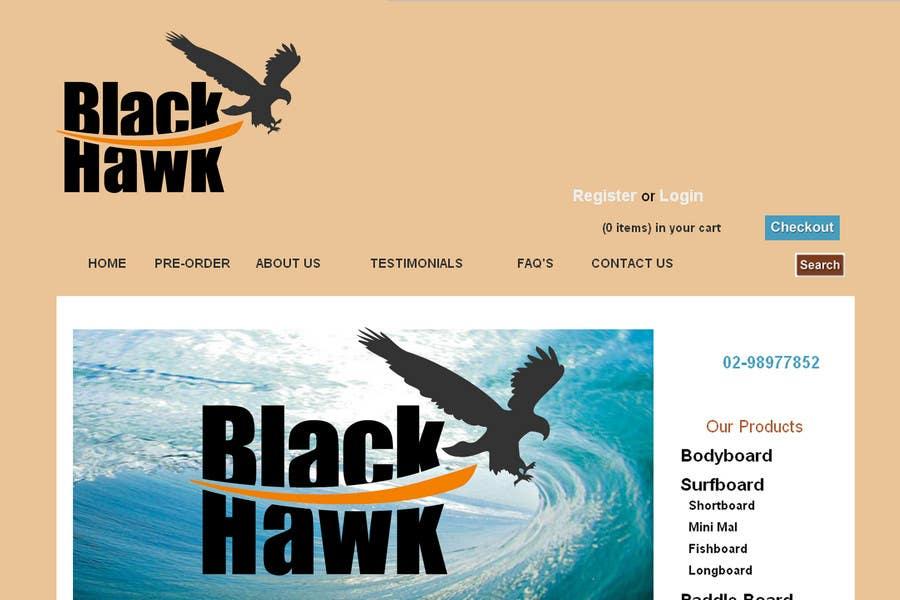 Penyertaan Peraduan #                                        383                                      untuk                                         Logo Design for Blackhawk International Pty Ltd