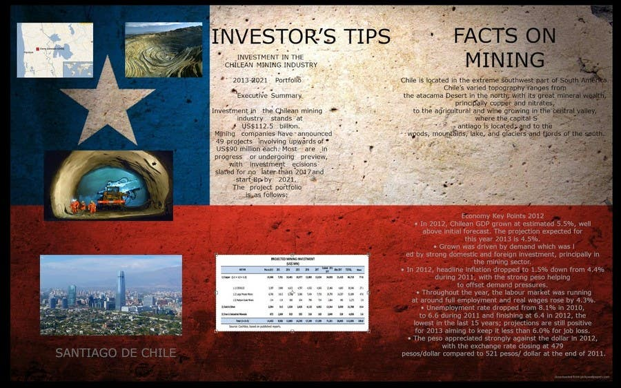 Bài tham dự cuộc thi #                                        7                                      cho                                         Design a Brochure for Mining in Chile