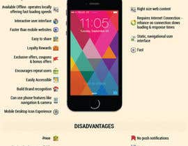 #8 for Mobile App vs mobile website infographic by linhsau1122