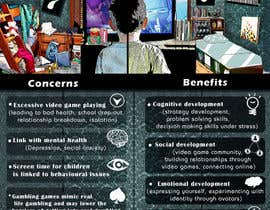 #13 for Make an illustration/photo that visualizes benefits and concerns of playing video games by Moesaif