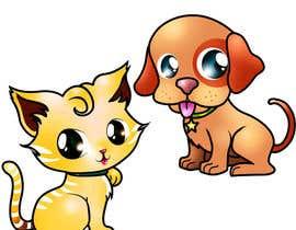#1 untuk Kitten and puppy concept art oleh chubi91