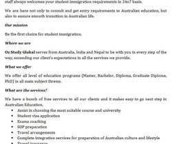 cwiclk tarafından write a professional company profile for a new student immigration company için no 18