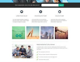 #16 untuk Design for a simple one page responsive layout for a investment business oleh eClickApps