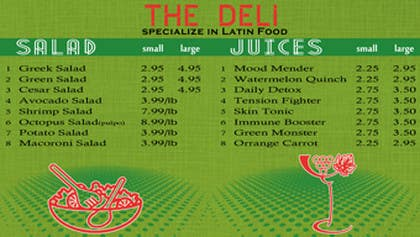 nº 9 pour Menu Design for Deli par akritidas21