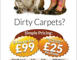 #28 para Design a Flyer for a carpet cleaning business. DOUBLE sided por freelancejob2013