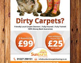 #27 para Design a Flyer for a carpet cleaning business. DOUBLE sided por Mimi214