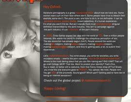 Nro 1 kilpailuun Design a Landing Page for MakeLoveNotPorn.tv ! käyttäjältä Moesaif