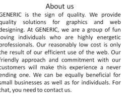 #17 para Write an about us article for my company por taha234525