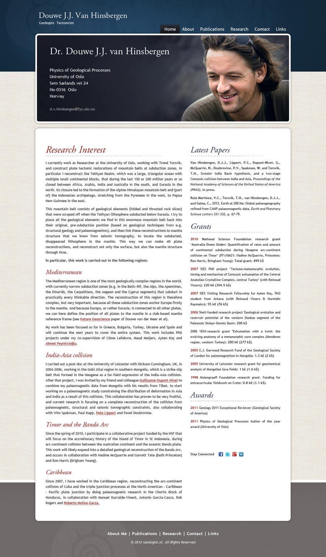 Bài tham dự cuộc thi #93 cho Personal Page (CV Website)